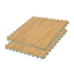 Wood puzzle tatami mats